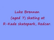 Luke (aged 7) skateboarding