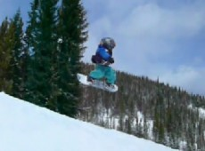 Wesley 3 year old snowboarder