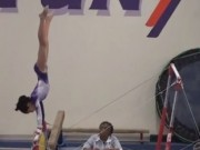 11 Year old USAG Level 8 Gymnastics Evaluation meet - Bars 9.6 - YouTube
