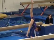 11.5 Year old USAG Level 8 Gymnastics Evaluation meet - Beam 9.25 - YouTube